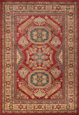 Momeni GHAZNGZ-02RED3B57 Turkish Machine Made Ghazni Collection Red Finish Rugs