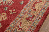 Momeni GHAZNGZ-03RED2030 Turkish Machine Made Collection Red Finish Rugs 2'X3'