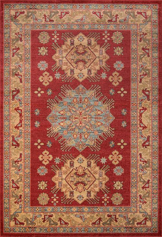 Momeni GHAZNGZ-03RED2030 Turkish Machine Made Ghazni Collection Red Finish Rugs