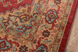 "Momeni GHAZNGZ-04RED3B57 Turkish Machine Made Collection Red Finish Rugs 3'11""X5'7"""