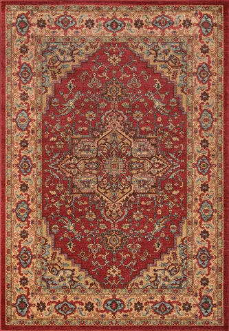 Momeni GHAZNGZ-04RED7A9A Turkish Machine Made Ghazni Collection Red Finish Rugs