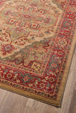 "Momeni GHAZNGZ-05BGE5376 Turkish Machine Made Collection Beige Finish Rugs 5'3""X7'6"""