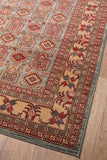 "Momeni GHAZNGZ-06LBL5376 Turkish Machine Made Collection L.Blue Finish Rugs 5'3""X7'6"""