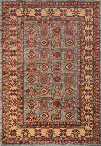 Momeni GHAZNGZ-06LBL5376 Turkish Machine Made Ghazni Collection L.Blue Finish Rugs