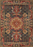 Momeni GHAZNGZ-08NVY5376 Turkish Machine Made Ghazni Collection Navy Finish Rugs