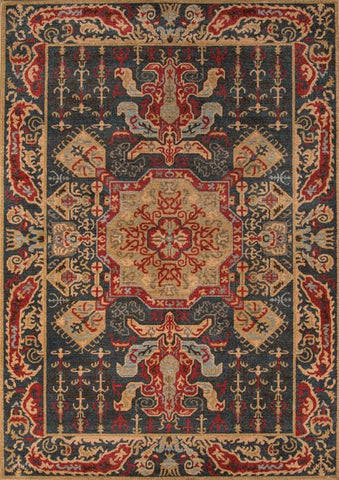 Momeni GHAZNGZ-08NVY2030 Turkish Machine Made Ghazni Collection Navy Finish Rugs