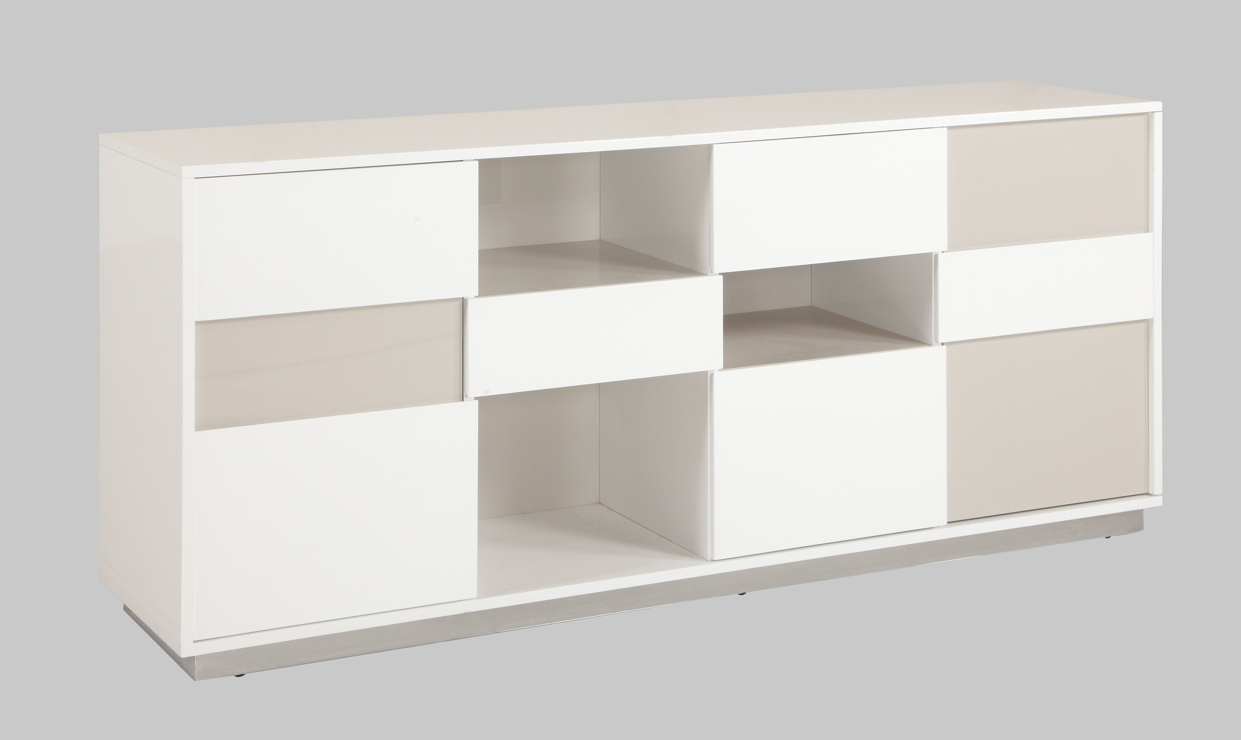 Chintaly Tone Buffet Open Storage Contemporary