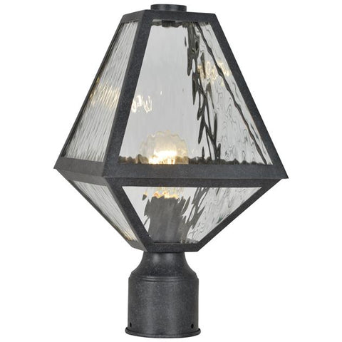 Brian Patrick Flynn For Crystorama Glacier 1 Light Black Charcoal Small Post