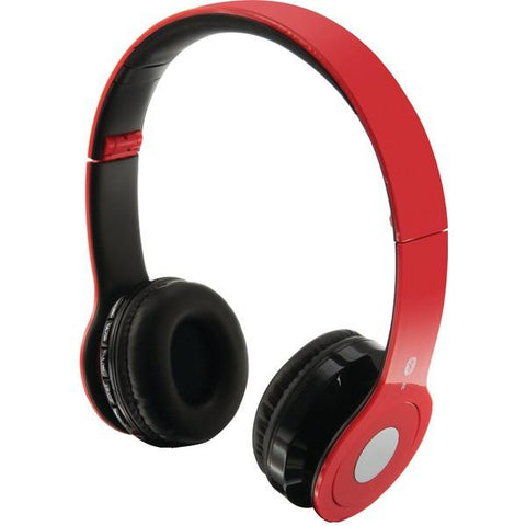 iLIVE IAHB16R Over-Ear Wireless Headset with Microphone (Red) - Peazz.com