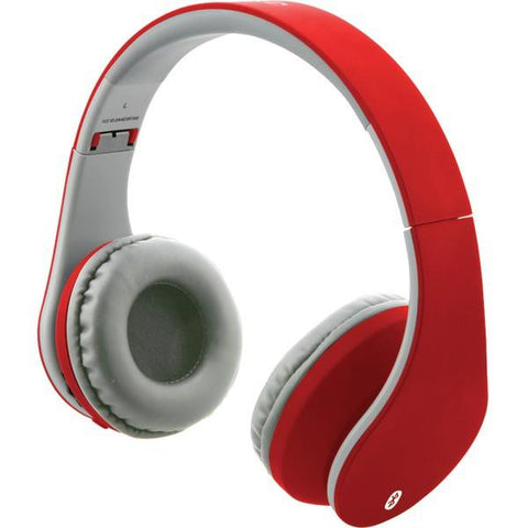 ILIVE IAHB64MR Bluetooth Headphones with Auxiliary Input (Matte Red) - Peazz.com
