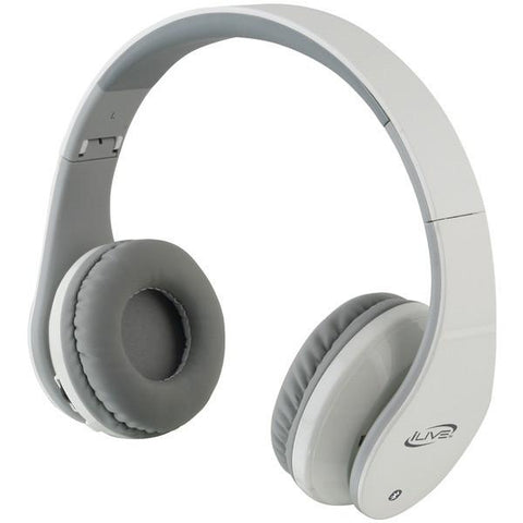 iLive Blue iAHB64W Bluetooth Headphones with Microphone (White) - Peazz.com