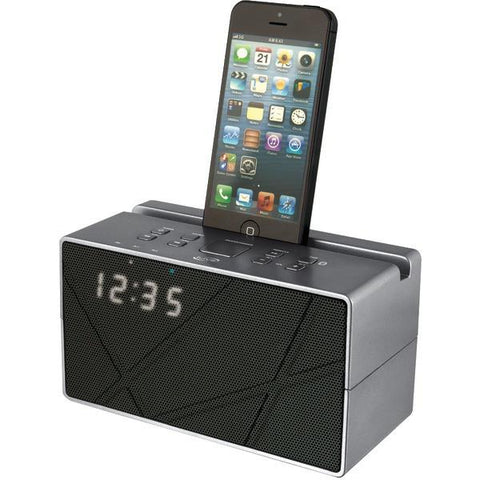 iLive Blue iCB284S Bluetooth Speaker with Clock - Peazz.com