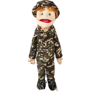 "28"" Army Boy Puppet w/ Blue Eyes"