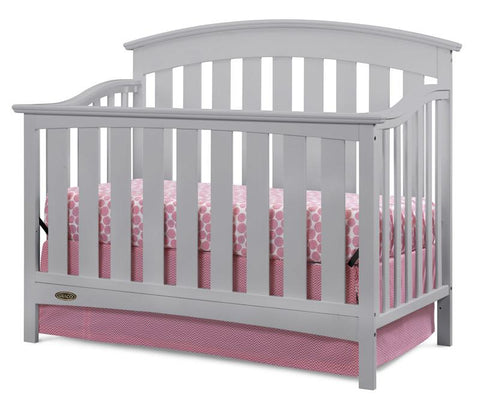 Graco 04550-01F Arlington Convertible Crib-Pebble Gray - Peazz.com