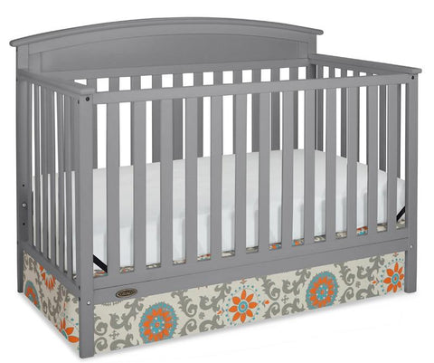Graco 04530-21F Benton Convertible Crib-Pebble Gray - Peazz.com