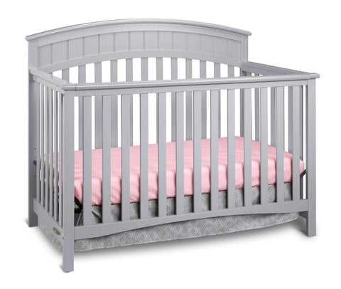 Graco 04540-53F Charleston Convertible Crib-Pebble Gray - Peazz.com