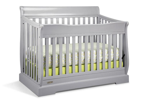 Graco 04560-14F Maple Ridge Convertible Crib-Pebble Gray (Dom) - Peazz.com