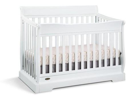 Graco 04560-141 Maple Ridge Convertible Crib-White (Dom) - Peazz.com