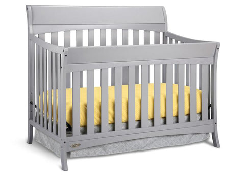 Graco 04540-46F Rory Convertible Crib-Pebble Gray - Peazz.com