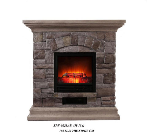Ok Lighting H-134 Portable Fireplace - Peazz.com