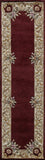 Momeni HARMOHA-07BUR2030 Chinese Hand Tufted Collection Burgundy Finish Rugs 2'X3'