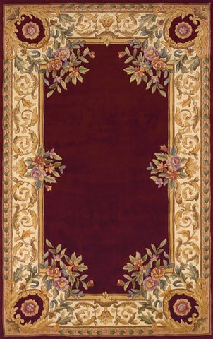 Momeni HARMOHA-07BUR80B0 Chinese Hand Tufted Harmony Collection Burgundy Finish Rugs