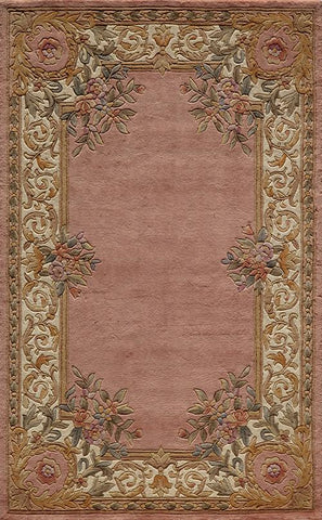 Momeni HARMOHA-07RSE3656 Chinese Hand Tufted Harmony Collection Rose Finish Rugs