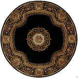 "Momeni HARMOHA-12BLK790R Chinese Hand Tufted Collection Black Finish Round 7'9""X7'9""Round"