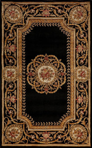 Momeni HARMOHA-12BLK80B0 Chinese Hand Tufted Harmony Collection Black Finish Rugs
