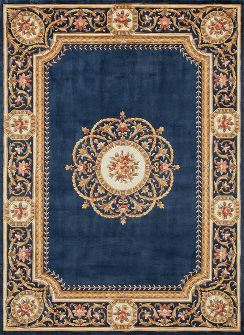 Chinese Hand Tufted Collection Blue Rugs 4645 Product Photo