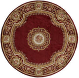 "Momeni HARMOHA-12BUR790S Chinese Hand Tufted Collection Burgundy Finish Square 7'9""X7'9""Square"