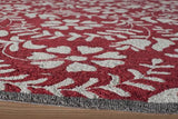 Momeni HAVANHV-10RED5076 Chinese Hand Tufted Collection Red Finish Rugs 5'X7'6""