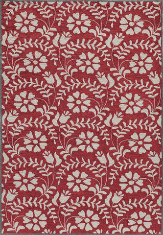 Momeni HAVANHV-10RED5076 Chinese Hand Tufted Havana Collection Red Finish Rugs
