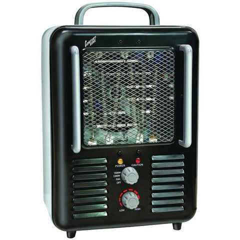 Comfort Zone CZ798BK Deluxe Milkhouse Heater/Fan - Peazz.com
