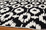 Momeni HEAVEHE-02BLK2030 Chinese Hand Tufted Collection Black Finish Rugs 2'X3'