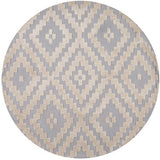 Momeni HEAVEHE-22STE400R Chinese Hand Tufted Collection Steel Finish Round 4'X4'Round