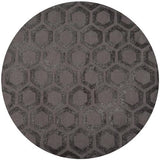 "Momeni HEAVEHE-23CHR7696 Chinese Hand Tufted Collection Charcoal Finish Rugs 7'6""X9'6"""
