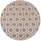 Momeni HEAVEHE-23TAU400R Chinese Hand Tufted Collection Taupe Finish Round 4'X4'Round