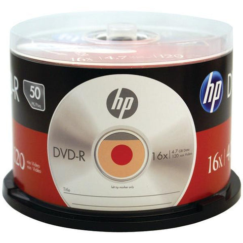HP DM16050CB 4.7GB 16x DVD-R (50-ct Cake Box Spindle) - Peazz.com
