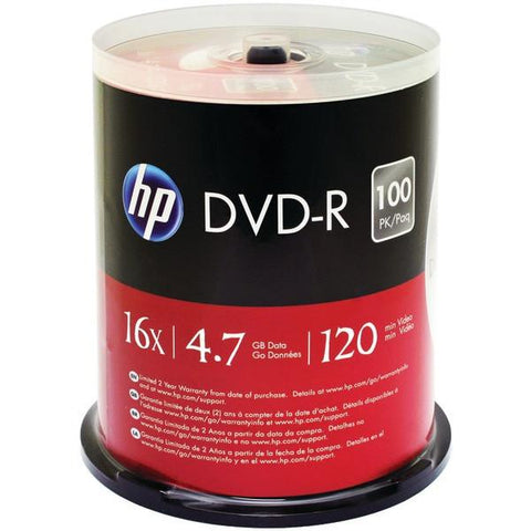 HP DM16100CB 4.7GB DVD-Rs, 100-ct Spindle - Peazz.com