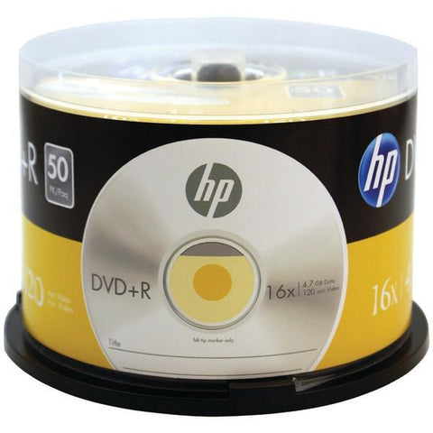 HP DR16050CB 4.7GB 16x DVD+Rs (50-ct Cake Box Spindle) - Peazz.com