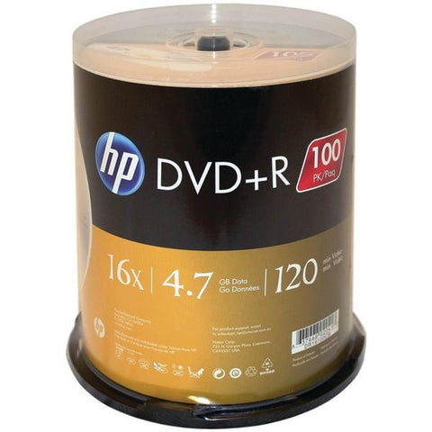 HP DR16100CB 4.7GB 16x DVD+Rs (100-ct Cake Box Spindle) - Peazz.com