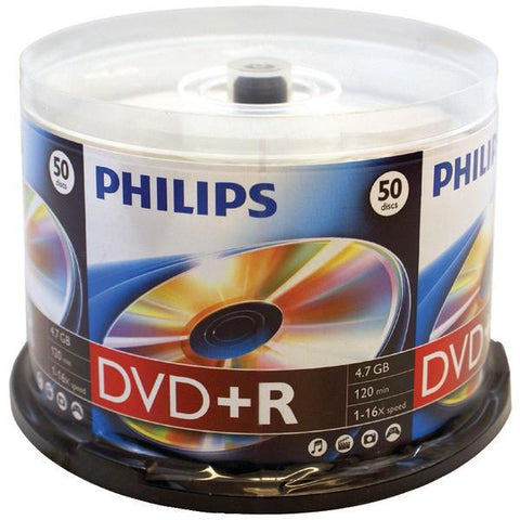 Philips DR4S6B50F/17 4.7GB 16x DVD+Rs (50-ct Cake Box Spindle) - Peazz.com