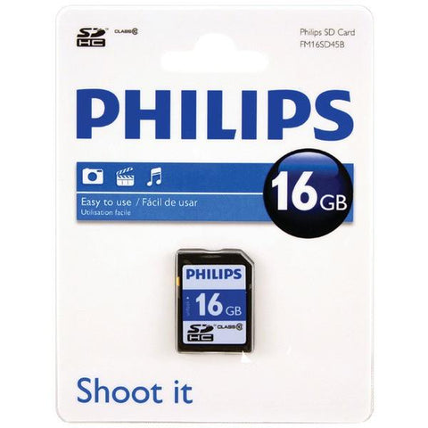 Philips FM16SD45B/27 SDHC Card (16GB, Class 10) - Peazz.com