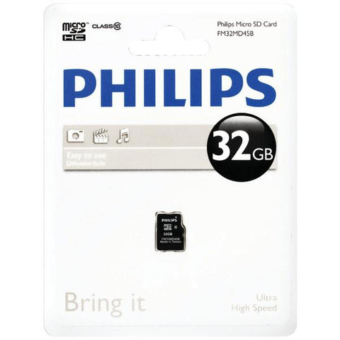 Philips FM32MD45B/27 32GB Class 10 microSDHCCard - Peazz.com