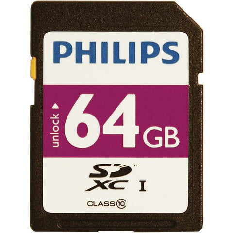 Philips FM64SD55B/27 64GB Class 10 SDXC Card - Peazz.com