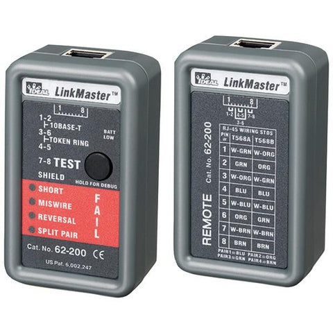IDEAL 62-200 LinkMaster Ethernet Tester - Peazz.com