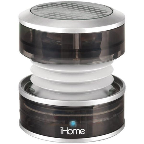 iHome iHM60GY Rechargeable Mini Speaker (Translucent Gray) - Peazz.com
