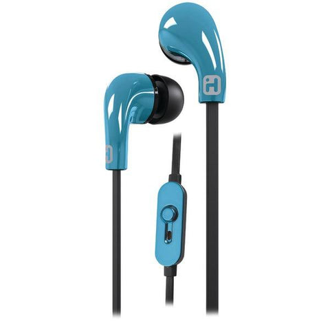 iHome iB26LC Noise-Isolating Earbuds with Microphone (Blue) - Peazz.com