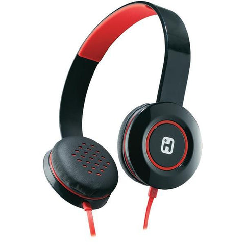 iHome iB35BRC Stereo Headphones with Flat Cable (Black/Red) - Peazz.com
